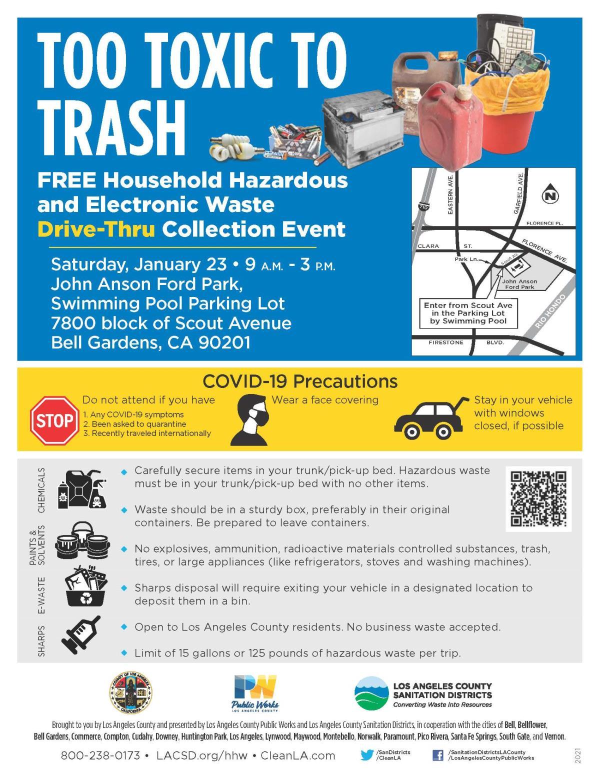 Hhw Household Hazardous Waste City Of Norwalk Ca