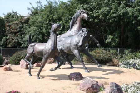 Spirit of Progress statue horses