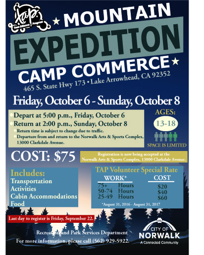 Camp Commerce Flyer 5x7