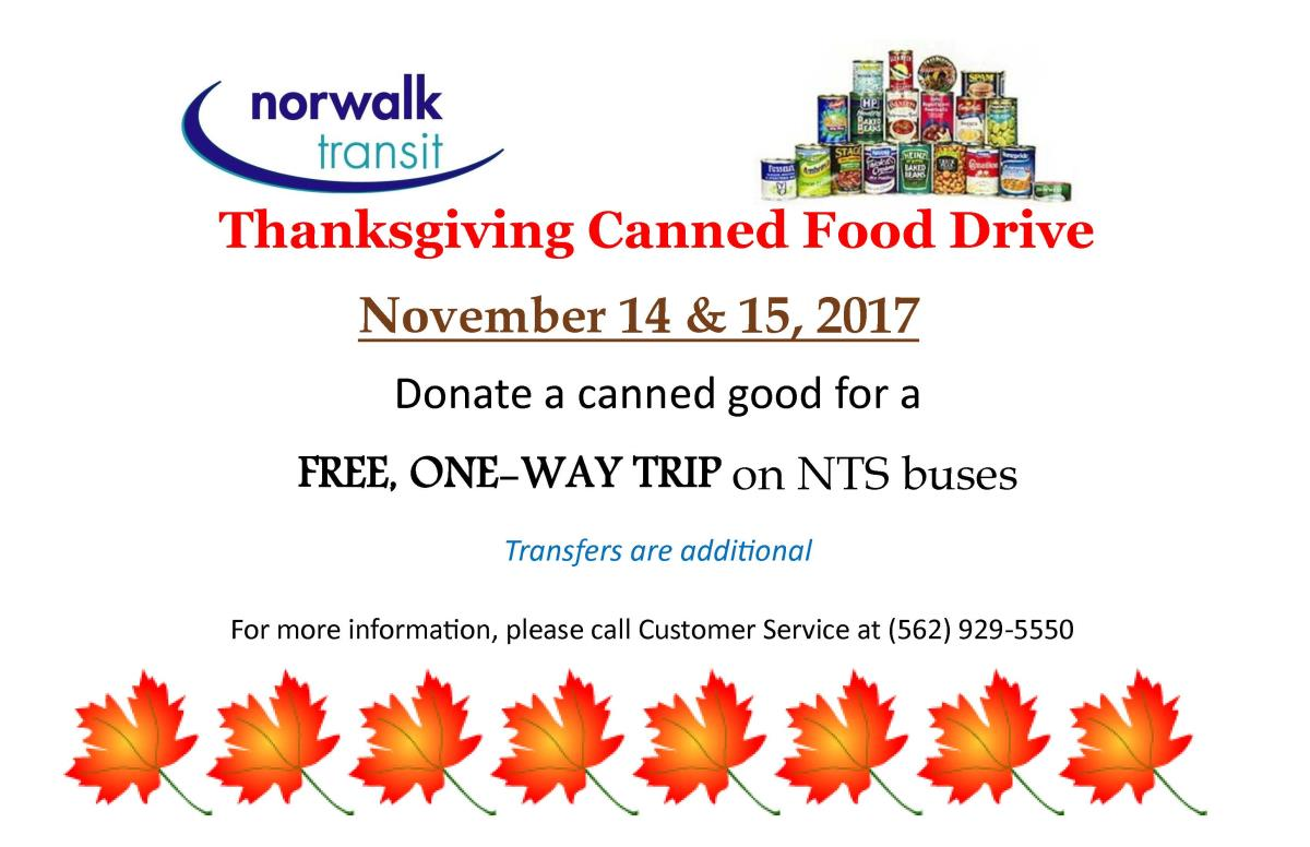 Canned Food drive 2017 Car Card Eng