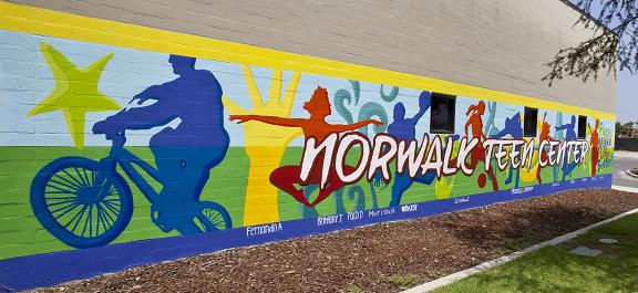 Norwalk Teen Center mural small