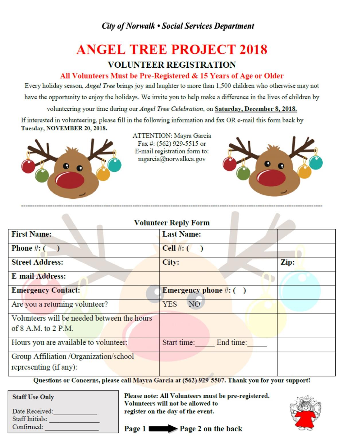 Angel Tree Volunteer Application