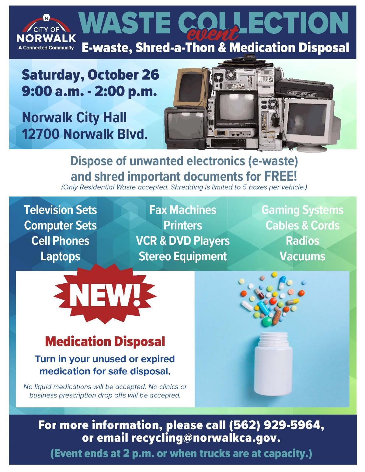 FREE for Residents - Current Programs and Events | City of Norwalk, CA