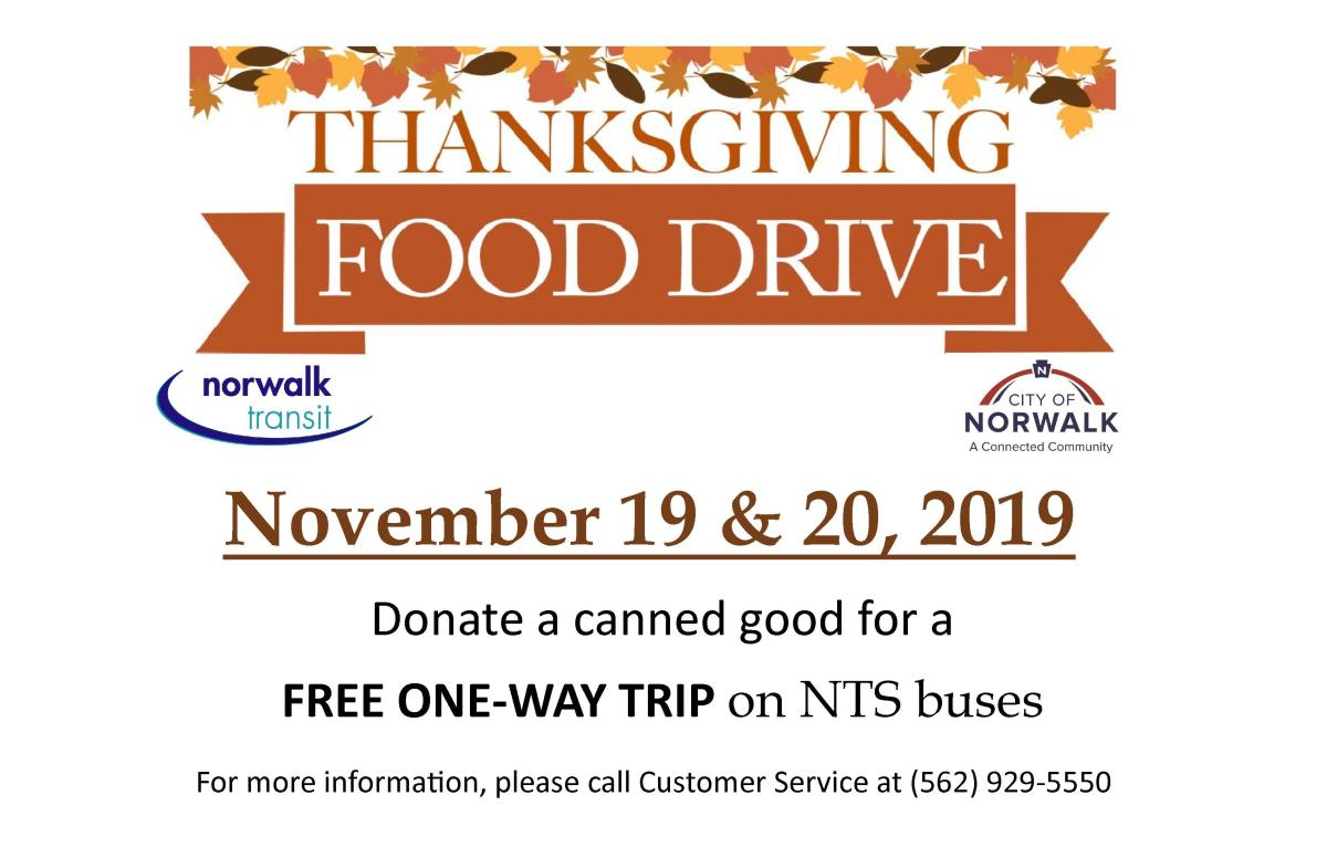 Canned Food drive 2019 English