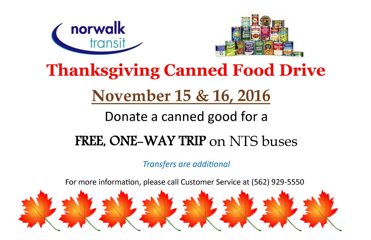 Canned Food drive 2016 Car Card Eng no border