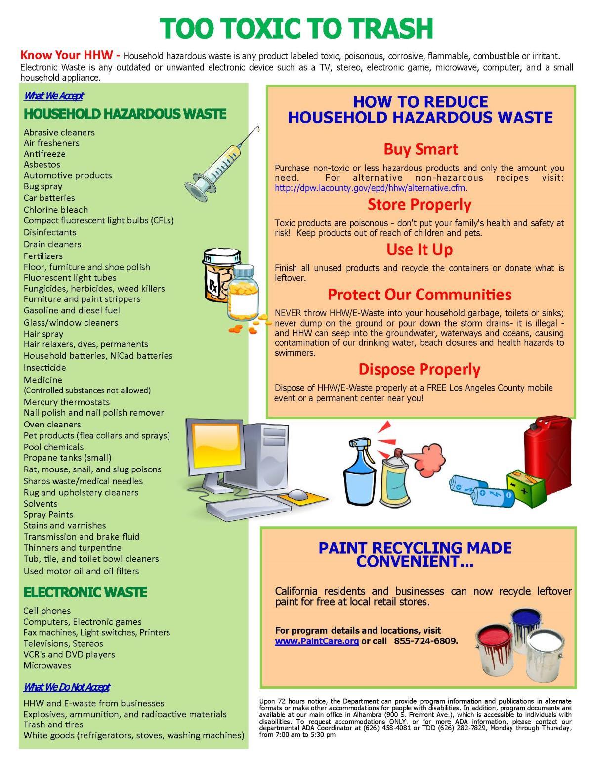 examples of household hazardous waste city of norwalk ca