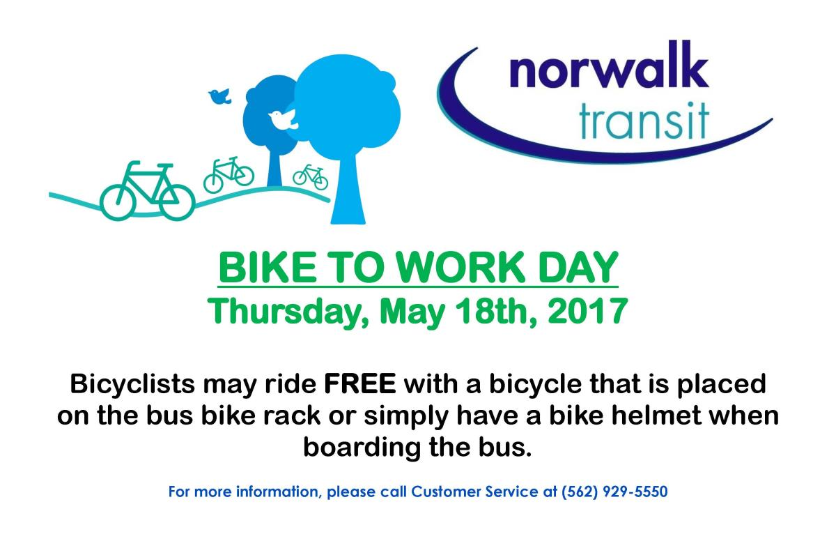 Bike to Work Day May 18 2017