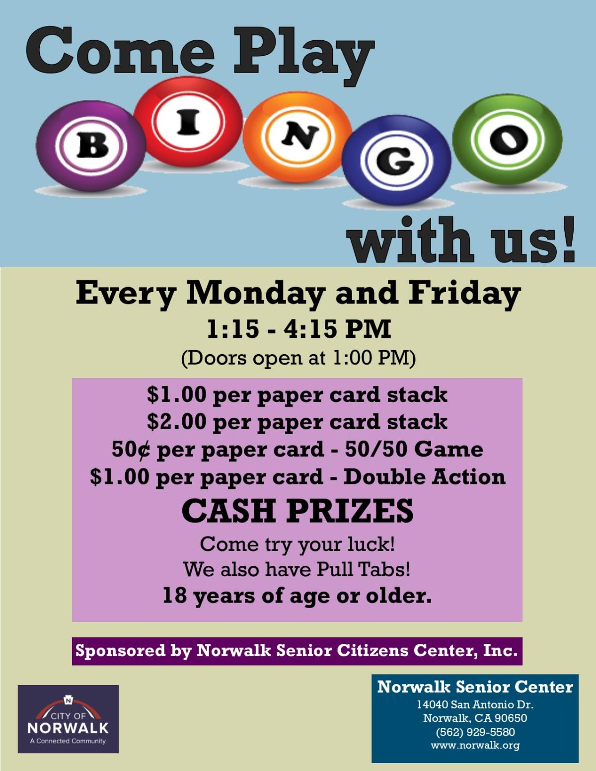 Bingo Flier Website