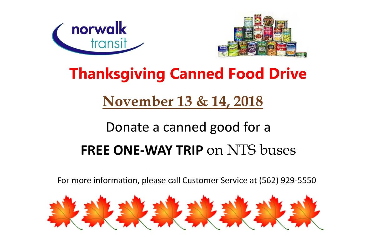 Canned Food drive 2018 Car Card Eng