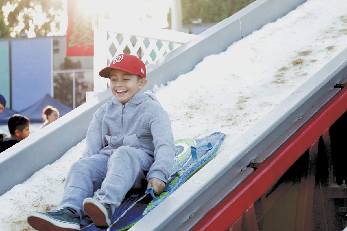 Snow Slide at Snowfest