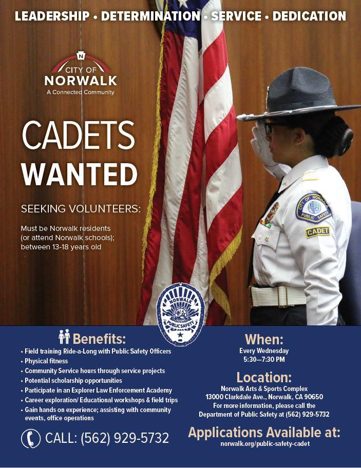 Public Safety Cadet Program | City of Norwalk, CA