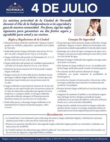Fireworks Flyer Webpage Spanish 2017