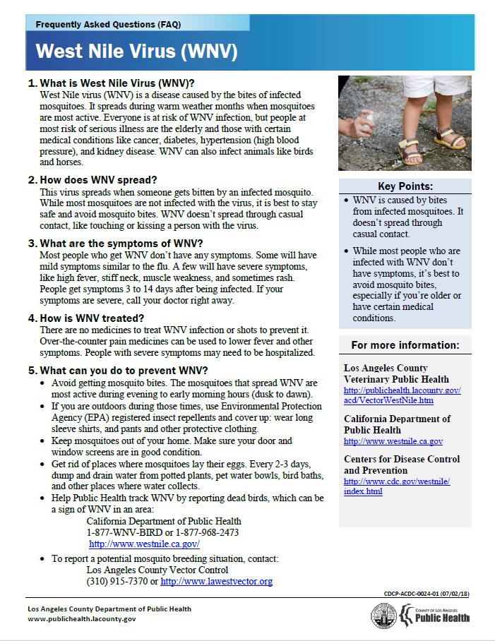 WNV FAQ